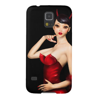 Sexy Devil Girl with Big Eyes Galaxy S5 Cover