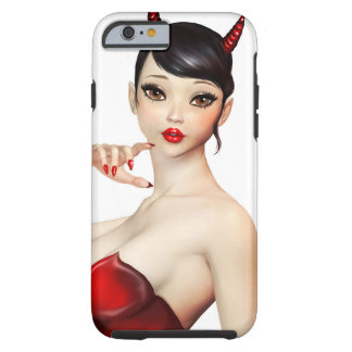 Sexy Devil  girl with Big Eyes Tough iPhone 6 Case