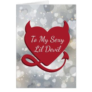 Sexy Devil Heart Valentine Card