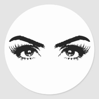 Sexy eyes transparency classic round sticker
