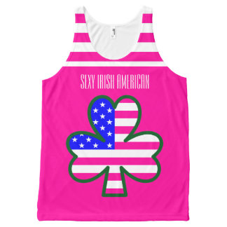 Sexy Irish American All-Over Print Tank Top