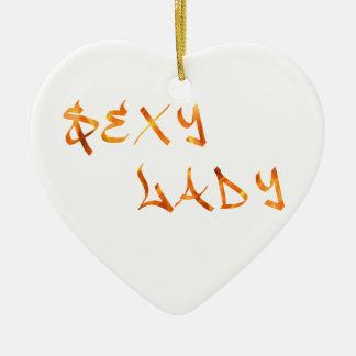 Sexy Lady Ceramic Heart Decoration