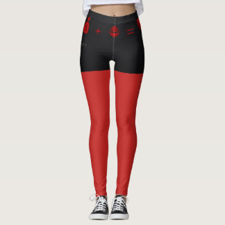 Sexy Leggings Black and Red