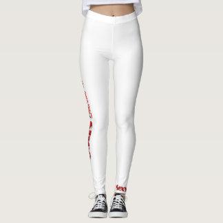 Sexy Leggings White /red
