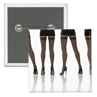 Sexy Legs with Stockings as Abstract Background 15 Cm Square Badge