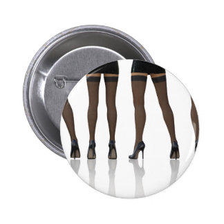 Sexy Legs with Stockings as Abstract Background 6 Cm Round Badge