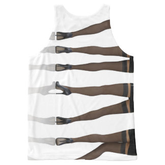 Sexy Legs with Stockings as Abstract Background All-Over Print Tank Top