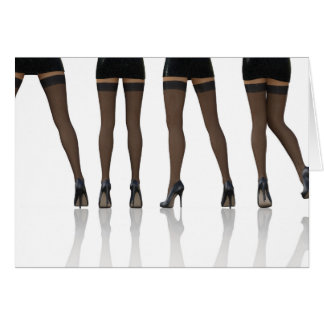 Sexy Legs with Stockings as Abstract Background Card