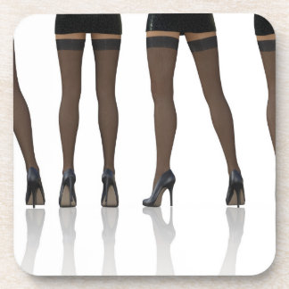 Sexy Legs with Stockings as Abstract Background Drink Coasters