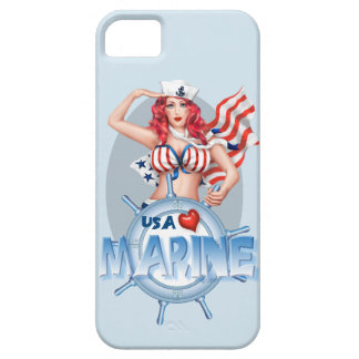 SEXY MARINE  CARTOON iPhone SE + iPhone 5/5S Case For The iPhone 5