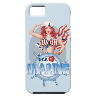 SEXY MARINE  CARTOON iPhone SE + iPhone 5/5S TOUGH iPhone 5 Cases