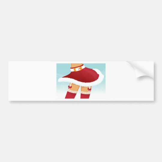 sexy mrs santa claus bumper sticker