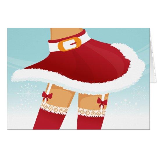 sexy mrs santa claus card