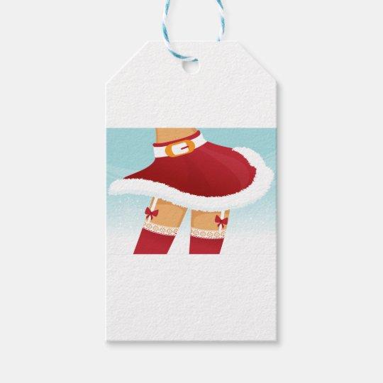 sexy mrs santa claus gift tags