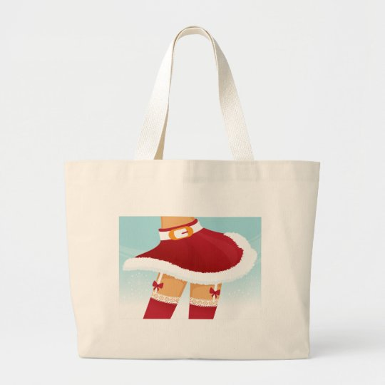 sexy mrs santa claus large tote bag