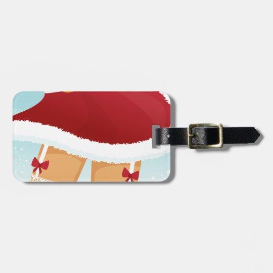 sexy mrs santa claus luggage tag