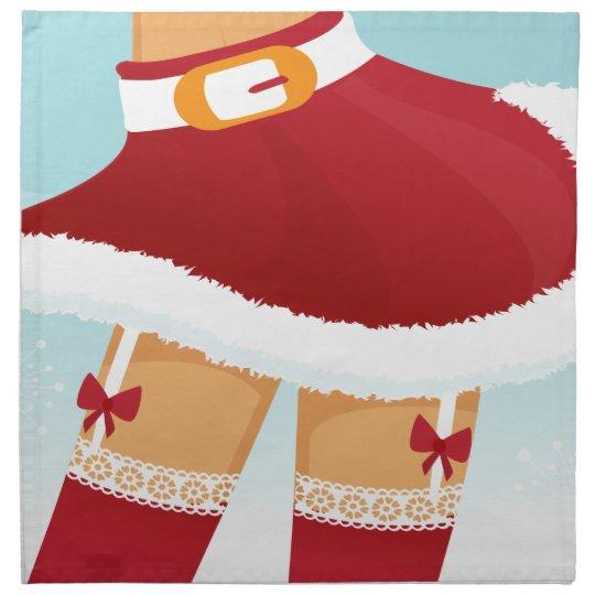 sexy mrs santa claus napkin