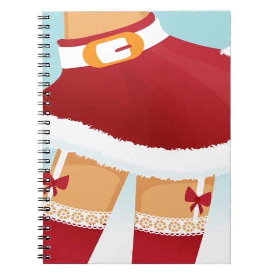 sexy mrs santa claus notebooks