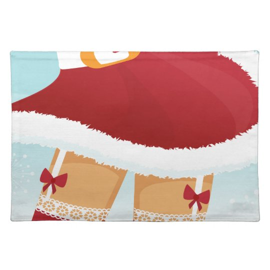 sexy mrs santa claus placemat