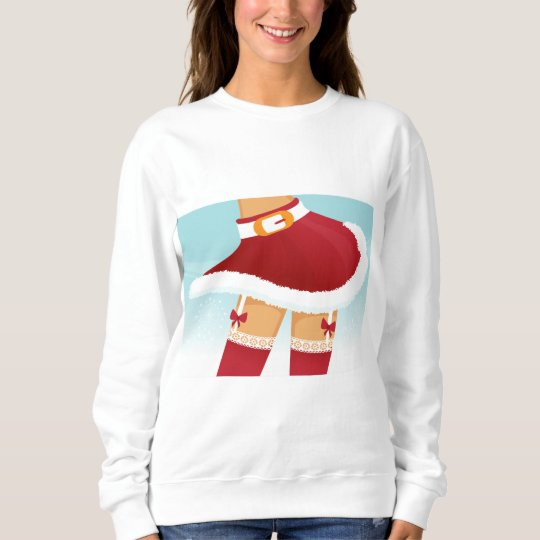 sexy mrs santa claus sweatshirt