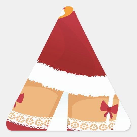 sexy mrs santa claus triangle sticker