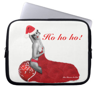Sexy Mrs Santa Retro Pinup Girl Laptop Sleeve Xmas