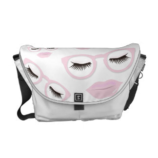 Sexy Pink Glasses Medium Messenger Bag