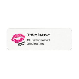 Sexy Pink Kissy Lips xoxo! Return Address Label