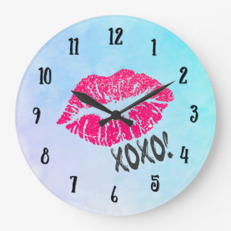 Sexy Pink Kissy Lips xoxo! Wallclock