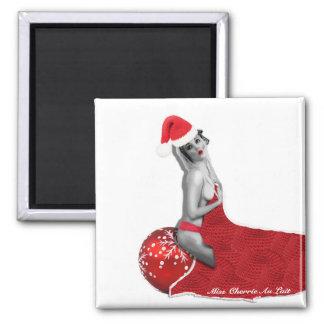 Sexy Pinup Girl Santa Magnet Funny Christmas Gift