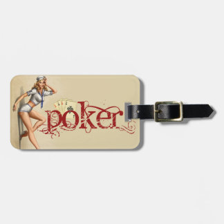 Sexy poker woman luggage tag