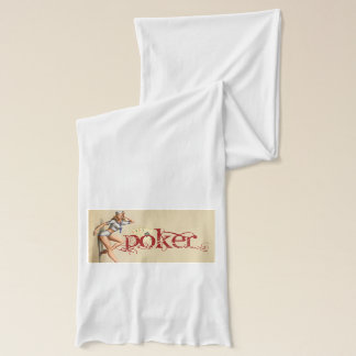 Sexy poker woman scarf