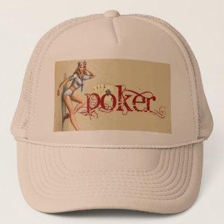 Sexy poker woman trucker hat
