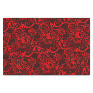 Sexy red and black lace tissue paper