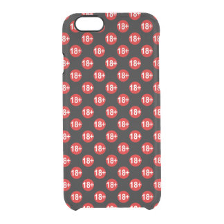 Sexy red and black polka dot clear iPhone 6/6S case