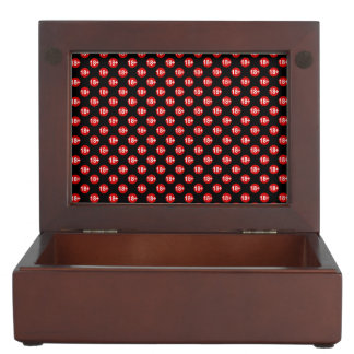Sexy red and black polka dot keepsake box