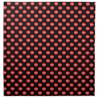 Sexy red and black polka dot napkin