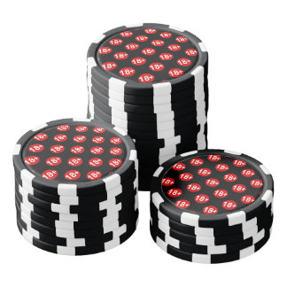 Sexy red and black polka dot poker chips