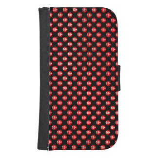 Sexy red and black polka dot samsung s4 wallet case