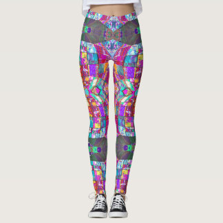 Sexy Sacred Geometry Stained Glass Leggings