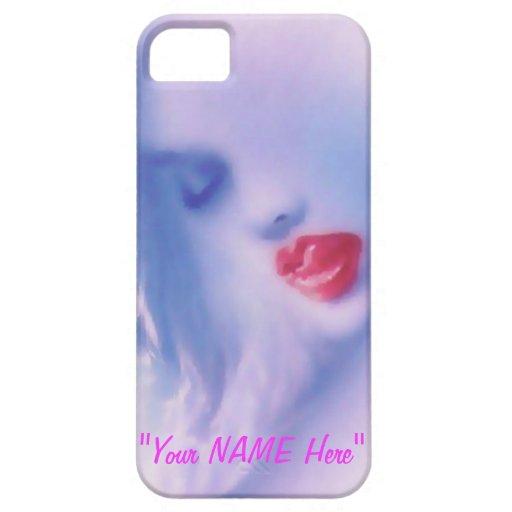 "Sexy Seductive Girls Face ""EDIT ME"" iPhone 5 Case"