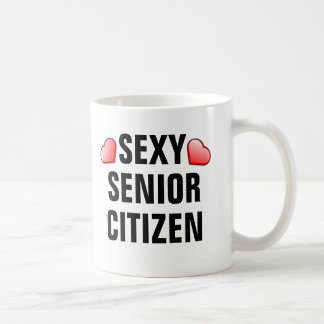 Sexy Senior Citizen with hearts Coffee Mug