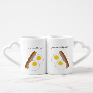 Sexy Sizzling Bacon and Eggs Couple Mugs