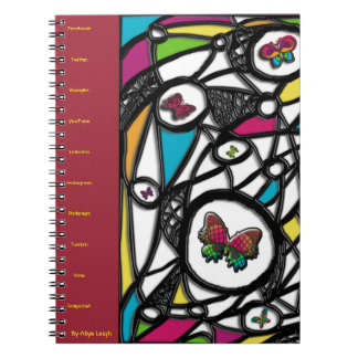 Sexy Social Butterfly  By Aliya Leigh Notebook