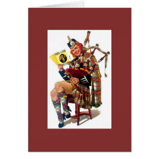Sexy Vintage Scottish Pinup with Robert Burns Card
