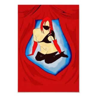 SEXY VIXEN RED INVITATION CARDS