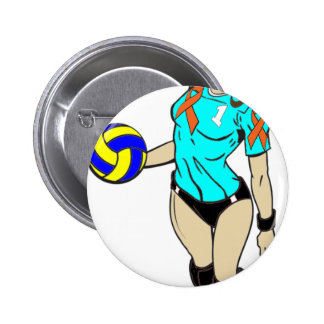 SEXY VOLLEY GIRL 6 CM ROUND BADGE