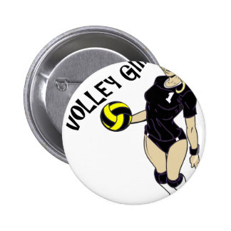 SEXY VOLLEY GIRL BLACK TEXT 6 CM ROUND BADGE