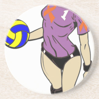 SEXY VOLLEY GIRL DRINK COASTERS