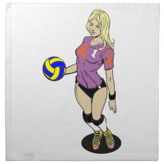 SEXY VOLLEY GIRL NAPKIN